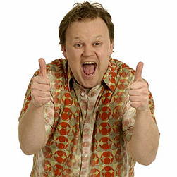 Justin Fletcher gives the thumbs up
