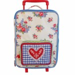 Room Seven Blue Rose Wheeled Suitcase