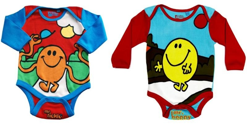 mr happy mr tickle babygrow