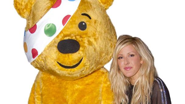 Ellie Goulding with Pudsey