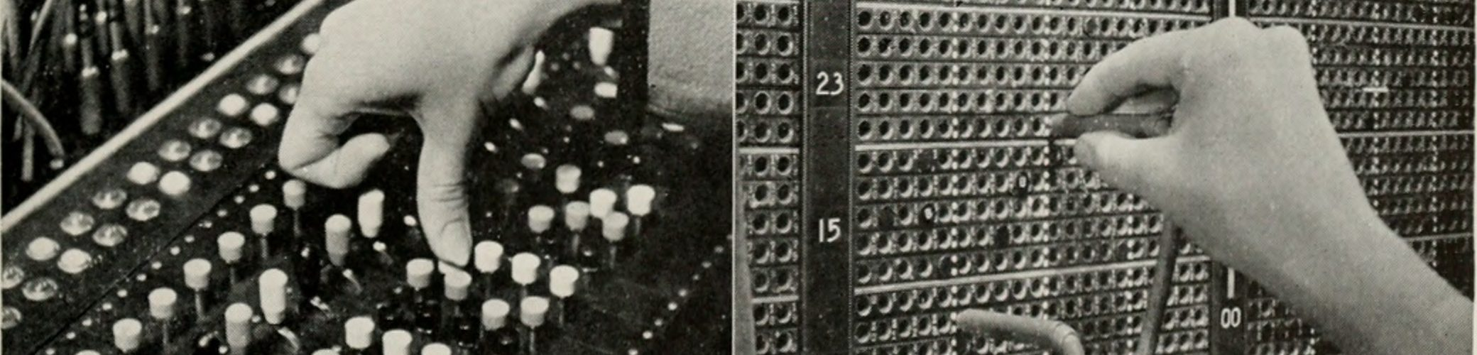 old telephone switchboard